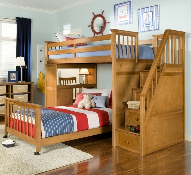 Full Over Full Bunk Beds With Stairs Furniture And Decor Trends Image 28