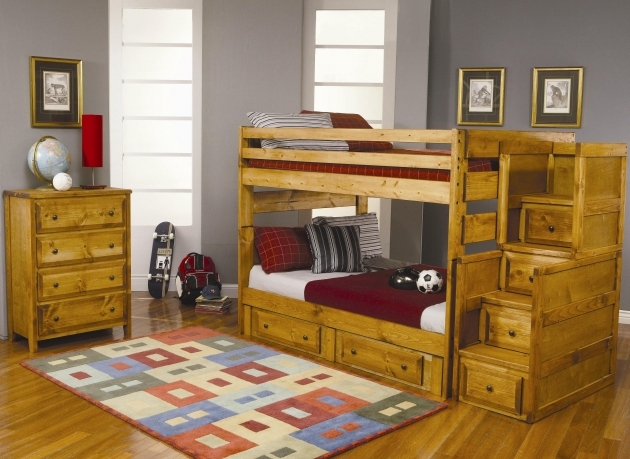 Full Over Full Bunk Beds With Stairs With Storage Wrangle Hill Photos 55