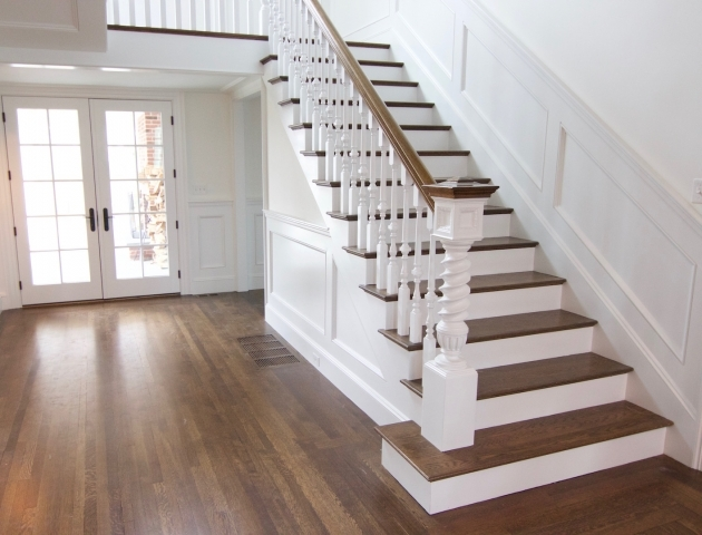 Oak Staircase White Spindles Hardwood Staircases Photo 62