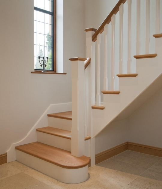 Oak Staircase White Spindles Ideas Stair Railing Photos 55