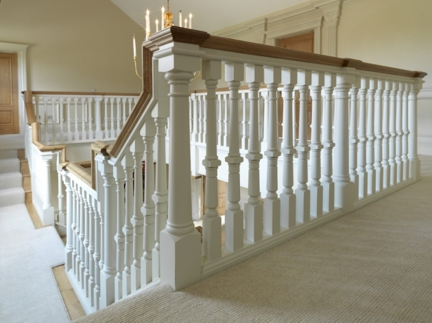 Oak Staircase White Spindles Nice Stair Design Ideas Remodels Pic 29