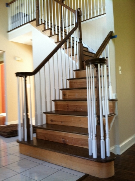Oak Staircase White Spindles With Hardwood Floor Wholesale Installers Stair Contractor Nj Pictures 67