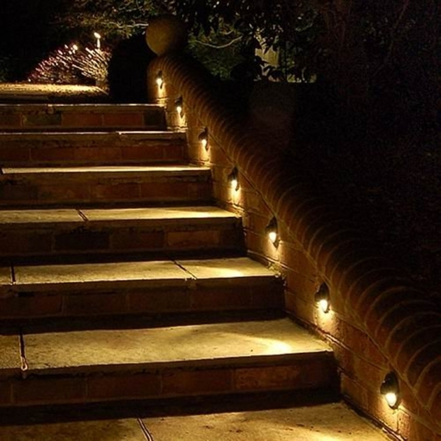 Outdoor Stairs Lighting Ip Half Moon Led Step Lights Downwards Lamp Outdoor Step Lighting Ideas Photos 10