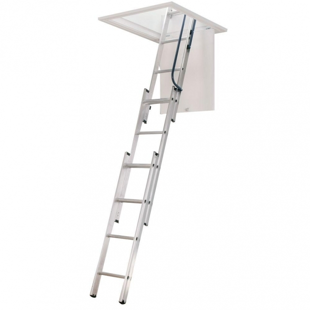 Pull Down Pole For Attic Stairs Werner 7 Ft 9 Ft 18 In X 24 In Compact Aluminum Attic Picture 98