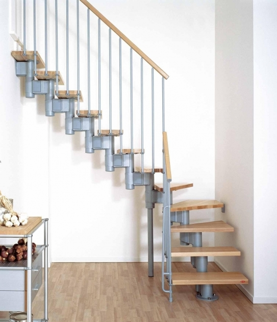 space Saver Stairs Building Regulations Staircase Design With Brown Wooden Staircase Mounted On The Blue Metal Stair Frame Pictures 18