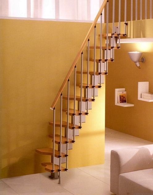 space Saving Stairs Building Regs Mini Plus Space Saver Loft Staircase Light Beech Image 04