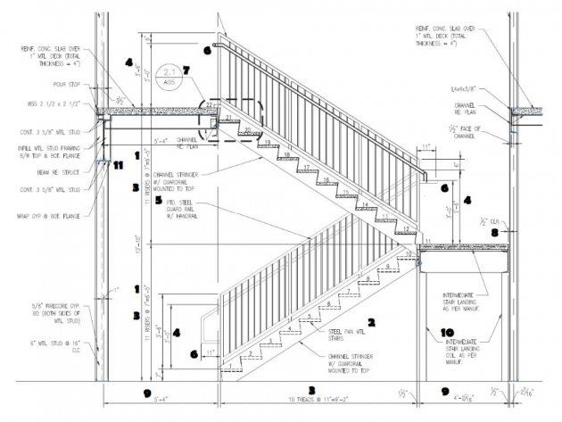 Stair Handrail Height Alternating Tread Stair Image 61