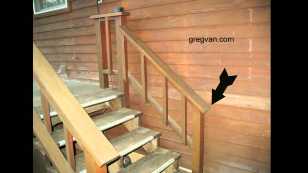 Stair Handrail Height Building A Deck Stairway Photos 80