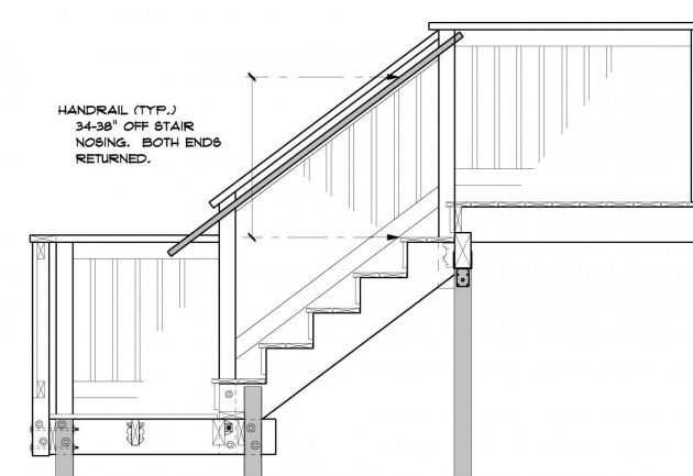 Stair Handrail Height Outside Deck Latest Code Images 29