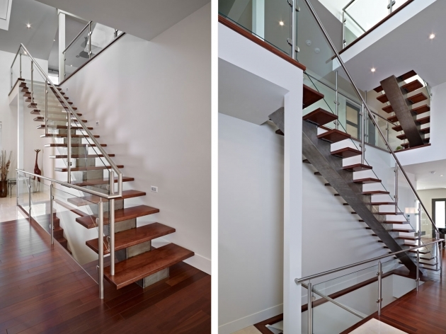 Staircase Glass Railings Elegant Design Stainless Steel Handrails Picture 09