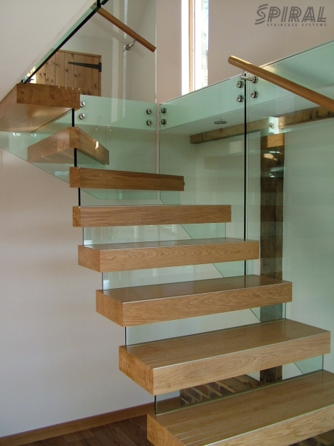 Staircase Glass Railings Elegant Home Interior Decoration With Light Oak Wood Pic 33