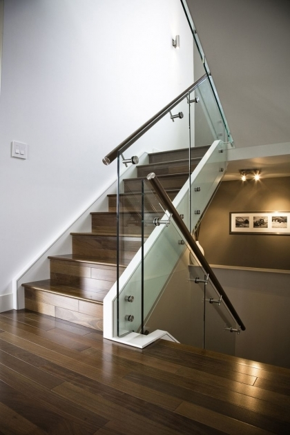 Staircase Glass Railings Handmade Maple Stair And Stainless Steel Pics 05