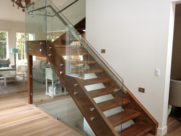 Staircase Glass Railings Home Stair Design Photo 01