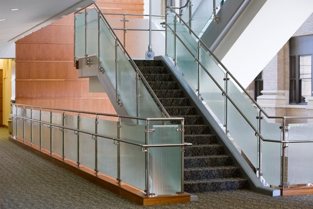 Staircase Steel Railing Designs With Glass Beautiful Handrails  Pictures 63