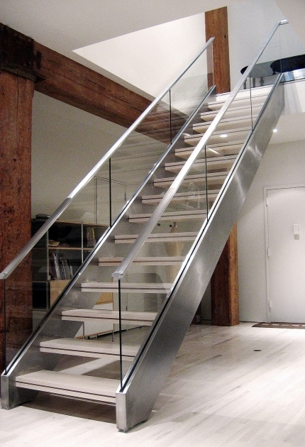 Staircase Steel Railing Designs With Glass Contemporary Ideas Pics 27