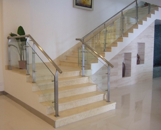 Staircase Steel Railing Designs With Glass House Remodel Pictures 99
