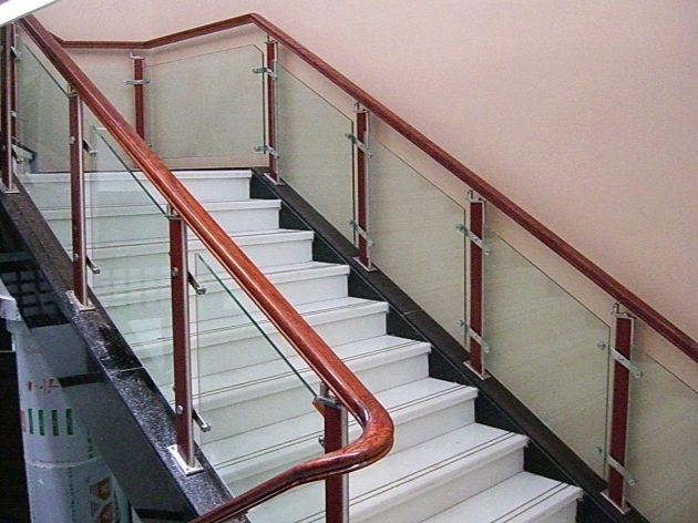 Staircase Steel Railing Designs With Glass Kerala Unique Ideas Home Design And Interior Pic 20