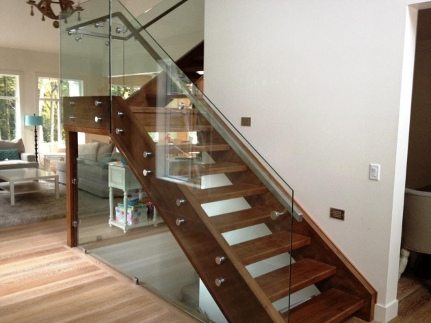 Staircase Steel Railing Designs With Glass Modern Handrail Ideas Frameless Transparent Glass Handrail Photos 48
