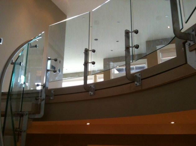 Staircase Steel Railing Designs With Glass System Topless Falcon Railing Images 96