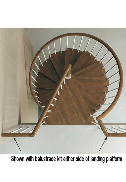 Standard Spiral Staircase Dimensions 1400mm Diameter Artemis Spiral Staircase Kits Dark Walnut Picture 58