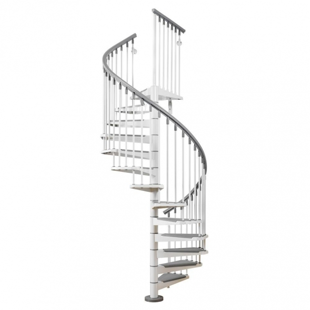 Standard Spiral Staircase Dimensions Arke Eureka 47 In White Spiral Staircase Kit K21001 Image 50
