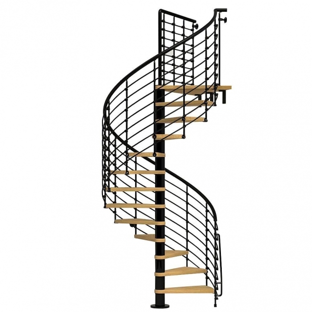 Standard Spiral Staircase Dimensions Arke Eureka 55 In Black Spiral Staircase Kit K21006 Photo 84
