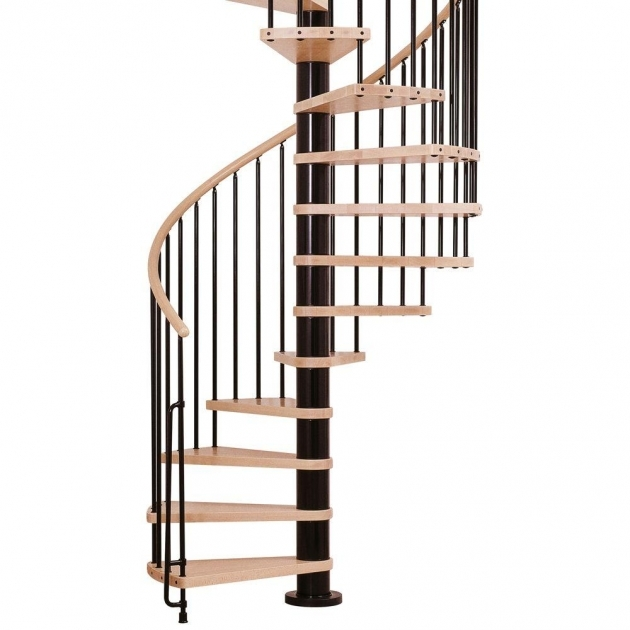 Standard Spiral Staircase Dimensions Arke Phoenix Black 55 In Spiral Staircase Kit K07084 Photo 86