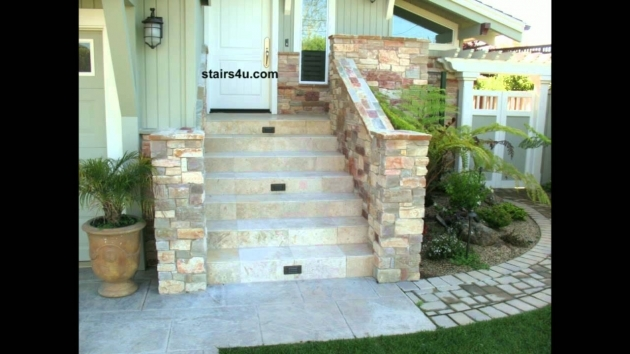 Tiles For Stairs Outdoors Front Porch Stairway With Natural Rock And Tile Pictures 82