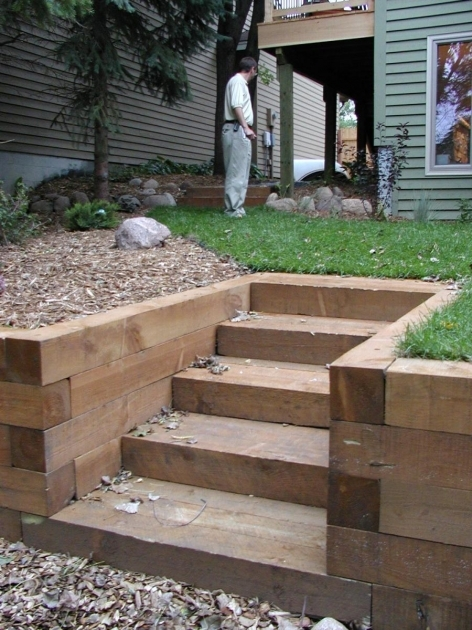 Timber Stairs Outdoor  Garden On Pinterest Stairs Decking And Decks Images 53