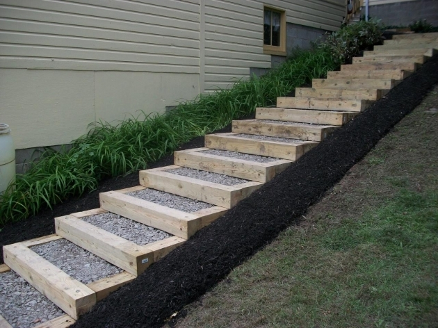 Timber Stairs Outdoor Timber Steps Gardens Photos 05