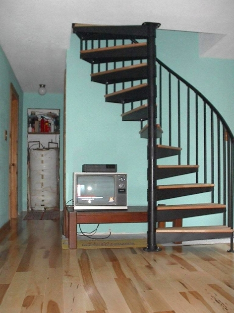 Wrought Iron Spiral Staircase Home Interior Decoration Using Tiffany Blue Living Room Wall Paint And Black Iron Metal Staircase Spindles Images 96