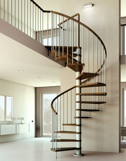 Wrought Iron Spiral Staircase Interior Design And Decoration Using Oak Wood Staircase Handrail And Stainless Steel Staircase Spindles Picture 63
