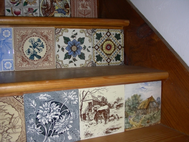 Decorative Stair Risers Antique Tiles Photos 86