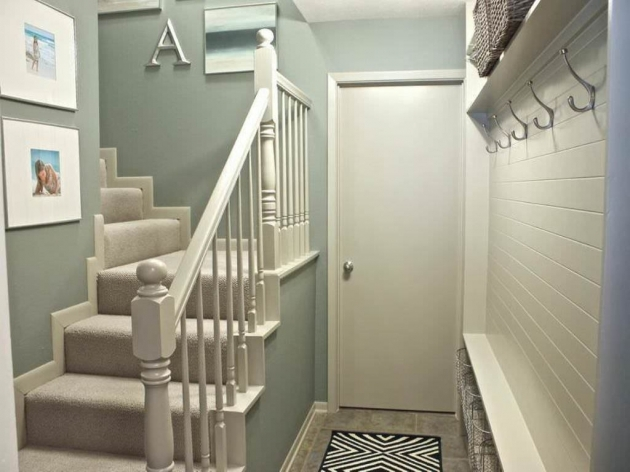 Designs For Stairs And Halls Basement Decorating Ideas Images 63
