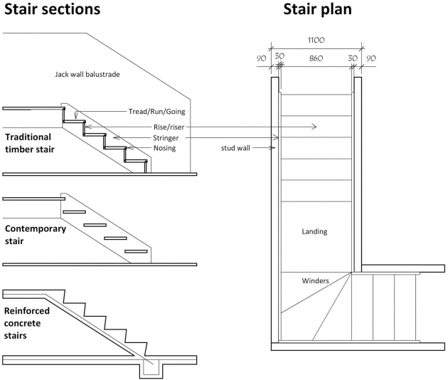 Floating Stairs Construction Drawing Understanding The Design Pictures 03
