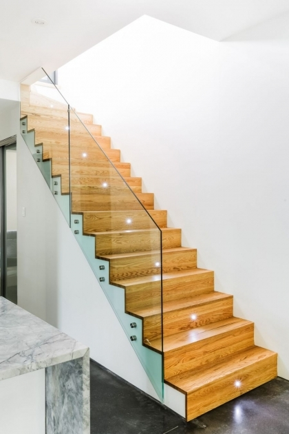 Glass Stairs Railing Contemporary Design For Wooden Staircase  Photo 70
