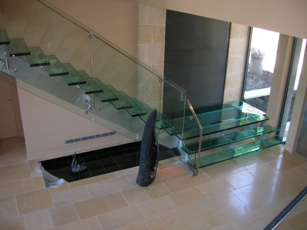 Glass Stairs Railing Design Modern Interior Ideas Photos 02