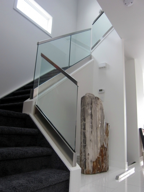 Glass Stairs Railing Interior Design Pic 45