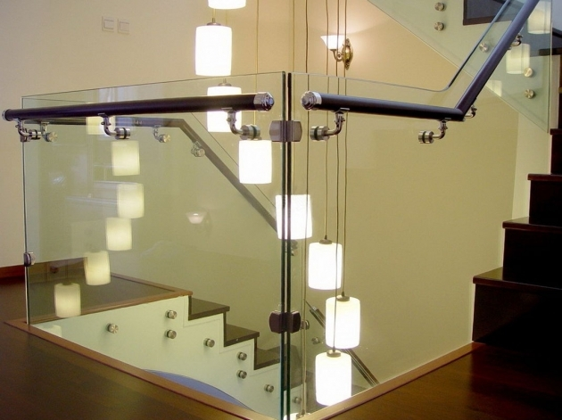 Glass Stairs Railing Kits Anti Impact Staircase Railing Laminated Glass Picture 70
