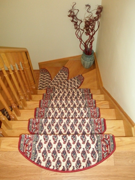 Oak Stair Treads Prefinished Stair Design With Wooden Treads And Railing Also Nice Motif Tread Mats Image 20