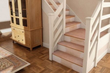 Oak Stair Treads with Return
