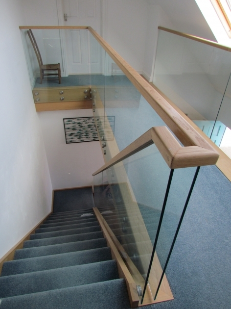 Oak Staircases With Glass Balustrade Affordable Home Fencing Furniture Bannister Boss Steel Staircase Fixed Stainless Pic 88