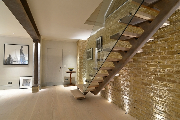 Oak Staircases With Glass Balustrade And Basements Design Ideas Image 57