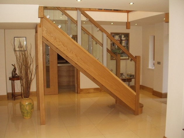 Oak Staircases With Glass Balustrade Bitteswell Pictures 84