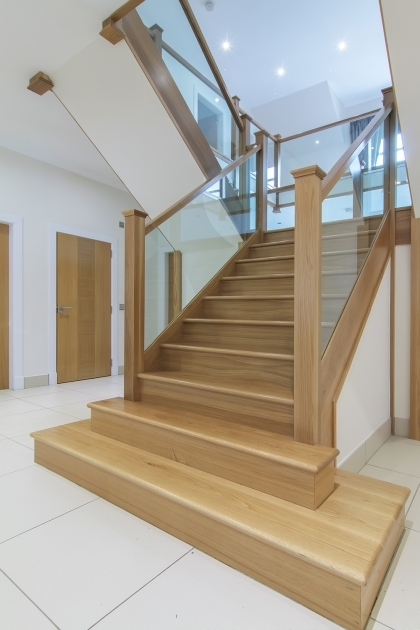 Oak Staircases With Glass Balustrade Design Pics 42