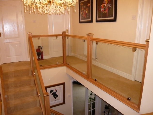 Oak Staircases With Glass Balustrade Design Split Landing Photo 58
