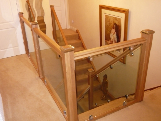 Oak Staircases With Glass Balustrade Split Landing Design Images 23