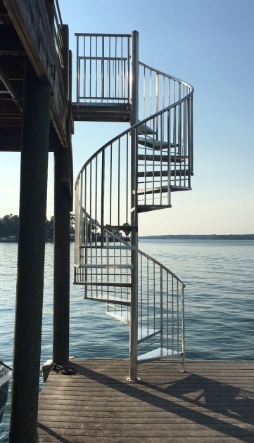 Outdoor Spiral Stair Kits Aluminum Checkerplate Deck Large Images 51