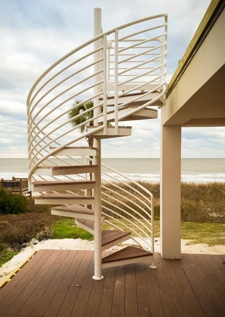 Outdoor Spiral Staircase Kits Artistic Design Pic 52