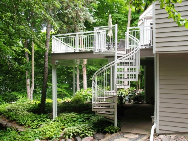 Outdoor Spiral Staircase Kits Designing Ideas Photos 05